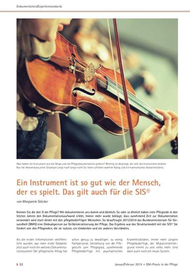 Ein Instrument ist so gut wie der Mensch, der es spielt. Das gilt auch für die SIS®